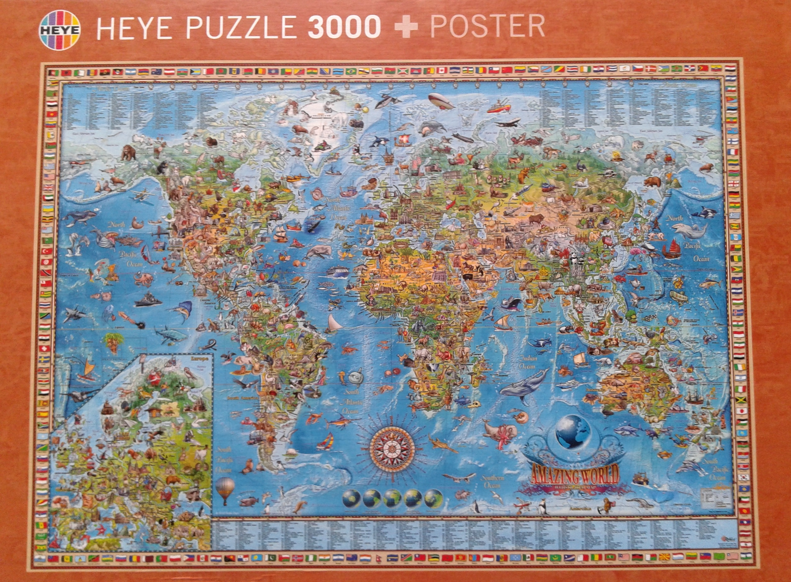 A great jigsaw puzzle and a great world map for kids