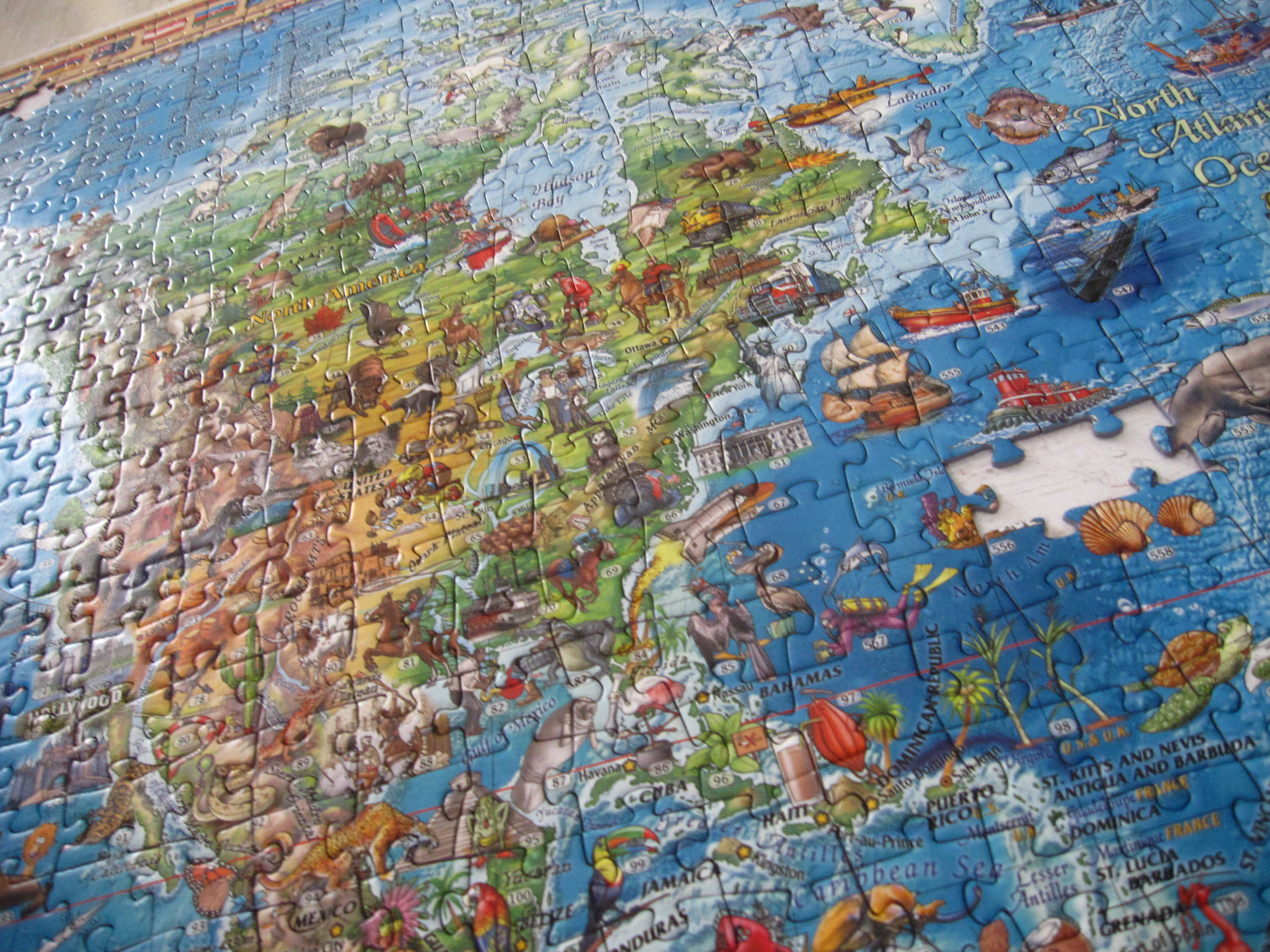 3000 pieces world jigsaw puzzle completed our perpetual journeys
